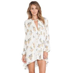 ISO: Free People Tree Swing Tunic XS/S Looking for size XS or S in the Gardenia Print! Willing to trade or buy! Free People Dresses Mini