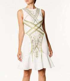 e0a85960b8 2019 Karen Millen Party Dresses - White/Multi Embroidered Peplum Dress  Online Sale https:
