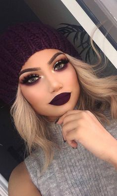dark makeup idea