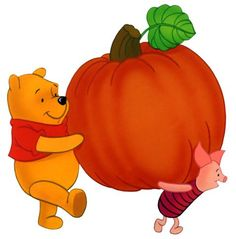 pics of a fall day with winnie the poo | ... /Autumn/Fall Season with Winnie the Pooh & Piglet with a pumpkin