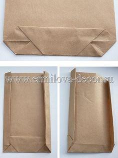 как сделать бумажный пакет своими руками