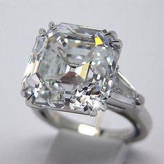 2.00 Ct Carat GIA Certified Asscher Cut 3 Stone Diamond Engagement Ring Platinum
