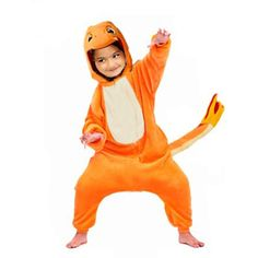 Charmander Onesie for Kids Does your child love to watch Pokémon? Is fiery Charmander is his favorite? Dress your child as his favorite character with our Charmander Onesie for Kids. Designed carefull