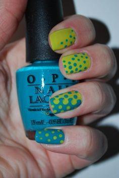 creative nail designs - dots to dots