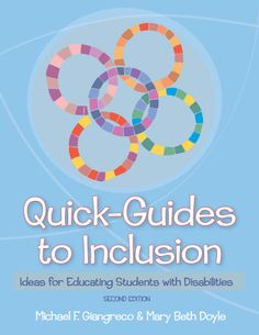"""""""Michael Giangreco's Home Page: Great information related to inclusion, paraprofessional support, educational curriculum planning, creative problem solving and coordinating services. Teaching Special Education, Co Teaching, Preschool Literacy, Science Classroom, Positive Behavior Support, Inclusive Education, Inclusion Classroom, Learning Support, Autism Awareness Month"""