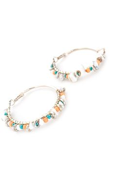 Chic Bohemia Bead Hoop Earrings