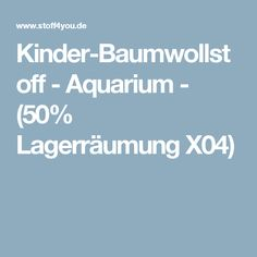 Kinder-Baumwollstoff - Aquarium - (50% Lagerräumung X04)