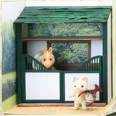 Cardboard horse barn - nice instructions where I can sub cardboard for the wood