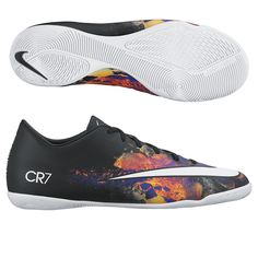Speed kills on the indoor soccer court. Play fast with the Nike CR7 Mercurial Victory indoor soccer shoes. Using the Savage Beauty design, you can burn your way through the defense. Get all your Cristiano Ronaldo soccer cleats, shoes, and gear today at SoccerCorner.com! http://www.soccercorner.com/Nike-Mercurial-Victory-V-CR7-Indoor-Soccer-Shoes-p/si-ni684875-018.htm