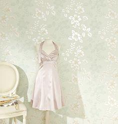 Tapete Isabella - Zarter Glanz, romantische Muster, gehauchte Farben. Romantik pur.