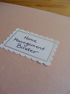 WOW is all i have to say. This  blog and the idea's she gave for a home management binder are flat a$$ A W E S O M E!