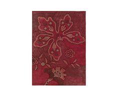 Alfombra artesanal Finesse Mood, rojo - 90x160 cm