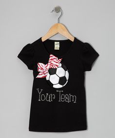 Black Personalized Soccer Tee