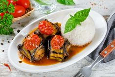 Recettes faciles en photos | Supertoinette Chorizo, Eggplant, Rice, Plates, Meat, Chicken, Food, Grilled Eggplant, Quick Recipes