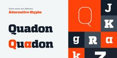 Quadon – Contemporary Slab Serif Font Family by Rene Bieder