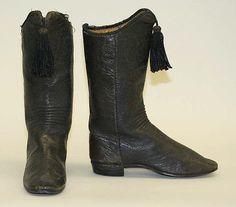 Boots, mid 19th century