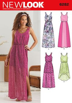 New Look 6282 Misses' Dress in Two Lengths