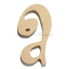"- inch Unfinished Wooden Letter - Lowercase ""a""- Curlz font - thick Our wooden letters are precisely cut using a High Performance CNC machine. Wooden Numbers, Wooden Letters, Lower Case Letters, Wooden Diy, Lowercase A, Fonts, Lettering, Chic, Country"