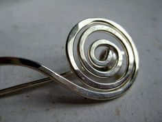 fine silver wave scarf pin by loveellie