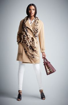 Burberry London 'Heronsby' Wool & Cashmere Wrap Coat | Nordstrom