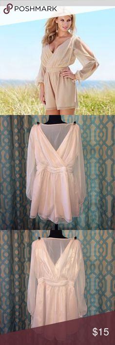 Venus Romper Size Small Open sleeves and back Romper by Venus. Never worn! VENUS Dresses