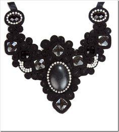 maxi colar preto penelope acessorios