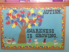 April Autism Awareness bulletin board | work | Pinterest