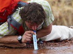 Wow this is pretty freaking cool! Portable Water Purifier Straw by Lifestraw