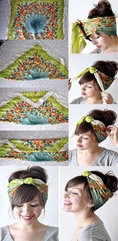 Veja aqui 10 formas de usar lenço na cabeça com tutorial e foto! Se jogue nesse acessório de Verão que vem conquistando a mulherada e arrase nos seus looks!