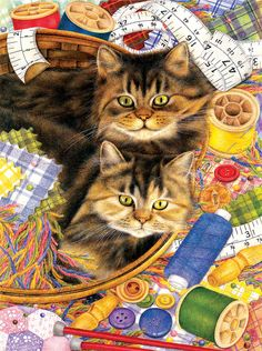 Anne Mortimer...Sewing Cats     xx