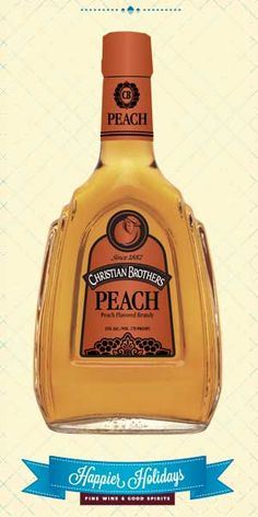 Distilled from premium grape varietals and aged in hand- selected oak barrels, this premium brandy is infused with a delicious peach flavor for a taste that is unbelievably smooth and well-balanced. Christian Brothers Peach can be enjoyed on the rocks, neat or in a favorite cocktail. – Distiller's Notes