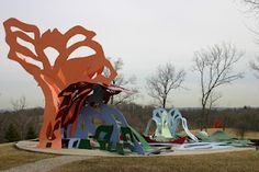 "Pyramid Hill Sculpture Park, Hamilton, Ohio.  256 acre sculpture park including ""Cincinnati Story"" by George Sugarman.  Entrance fee only $8."