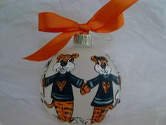 Hand Painted Auburn Tigers War Eagle Glass by Threetailedfoxstudio, $23.00