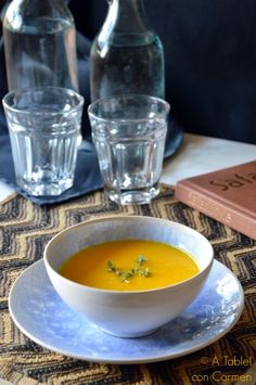 Crema de Zanahoria y Jengibre al Aroma de Tomillo limonero
