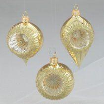 60-115mm Gold With Gold Decor Glass Reflector Ornaments 12pc, http://astore.amazon.com/wonderfulrota0009-20/detail/B002TGUMOC