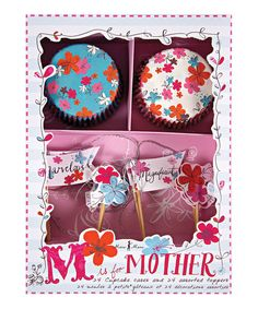 Sprinkle any batch of cupcakes with a bit of blossoming magic with this sweet cupcake kit! Featuring cupcake liners with bright floral designs and a stylish selection of toppers, this kit even arrives in a delightful box making it a perfect gift.Includes 24 cupcake liners and 24 cupcake toppers6'' W x 8'' H x 2''PaperImported