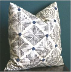 Blue and White Pillow Cover – Ethnic Pillow Cover – Tribal Decor – Diamond Pillo… Blue And White Pillows, White Pillow Covers, For You Blue, Tribal Decor, Pillow Texture, Ethnic, Throw Pillows, Diamond, Cushions