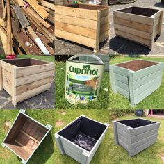 Homemade Wood Project: from pile of timber to wooden garden planter in two hours. Outdoor Garden Furniture, Diy Pallet Furniture, Outdoor Decor, Wooden Garden Planters, Diy Planters, Plant Troughs, Teak Oil, Furniture Covers, Air Plants