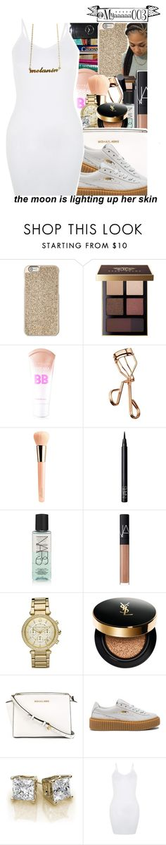 """""""✨This outfit pretty lit.✨"""" by myaaaaa003 ❤ liked on Polyvore featuring 7 For All Mankind, Michael Kors, Bobbi Brown Cosmetics, Max Factor, Maybelline, Tweezerman, Guerlain, NARS Cosmetics, MICHAEL Michael Kors and Puma"""