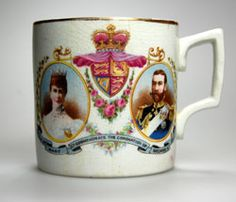 Love the colours on this vintage Coronation Mug