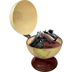 """""""The Gun Globe makes cartographers everywhere seem mysteriously dangerous. Watch out when they reach for the Tropic of Capricorn."""" ~from pinner"""