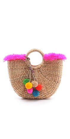 basket + pompoms