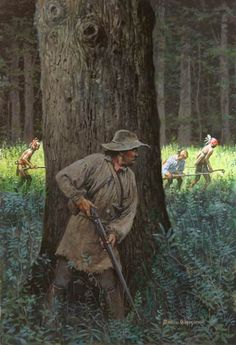 "David Wright - ""Treed"" Conflicts between settlers and Native Americans were a  part of life on the Pennsylvania frontier."