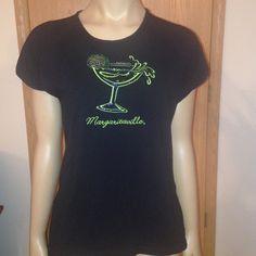 Margaritaville Blingy T-Shirt Black short sleeve Margaritaville T-Shirt with bling. Size XL, gently worn. Margaritaville Tops Tees - Short Sleeve