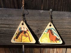Vintage Up Cycled Western Cowgirl Horse Earrings by RanchoRetroVintage on Etsy https://www.etsy.com/listing/475841478/vintage-up-cycled-western-cowgirl-horse