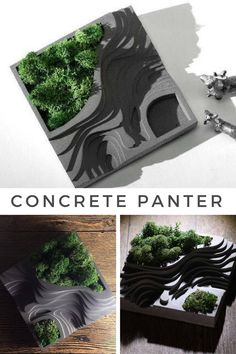 Gorgeous square architectural succulent pot. This planter would look so nice on my office desk. #ad #concrete #planter #cement #succulentplanter #modern #homedecor