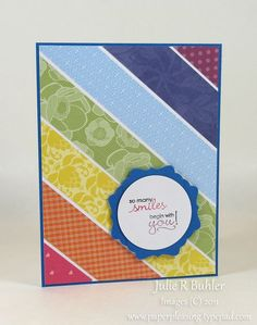 simple card make from scraps -- great way to use up scraps!
