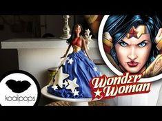 How to make Wonder Woman Doll Cake - YouTube