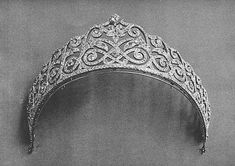 The Jewels of Princess Vera Nikolaevna Lobanov Rostovsky (or Lobanoff de Rostoff née Dolgoruky. Royal Crowns, Royal Tiaras, Tiaras And Crowns, Royal Jewelry, Fine Jewelry, Diamond Tiara, Circlet, Hair Ornaments, Crown Jewels