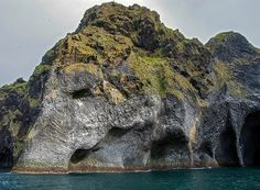 Elephant Drinking from the Ocean,photos of a natural rock formation off the coast of Iceland that looks like an imposing elephant with its trunk dipped in the Atlantic. Located on the island of Heimaey, Komodo, Basalt Rock, Ocean Photos, Rock Formations, Out Of This World, Mauritius, Mother Earth, Iceland, New Zealand
